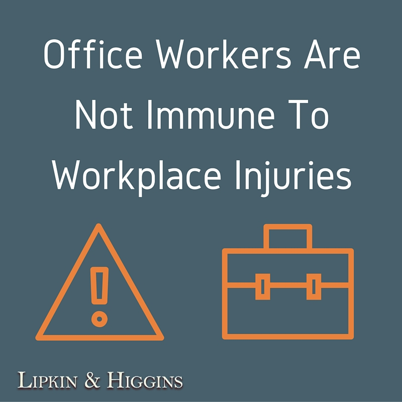 Office Workers Are Not Immune To Workplace Injuries